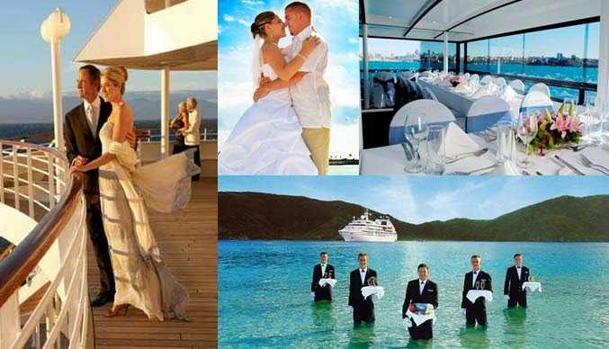 Norwegian cruise line wedding pictures