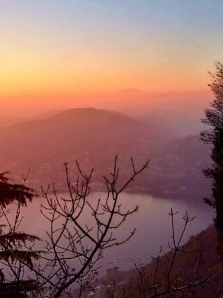 sunset lake como